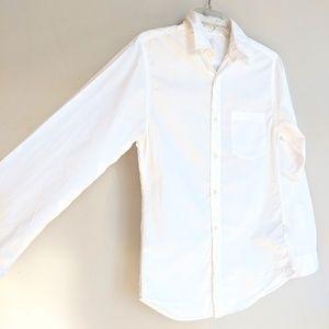 GUC JCREW MENS XS WHITE BUTTON DOWN 100%cotton